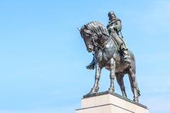 1月Zizka捷克国家历史文物雕象  免版税库存图片