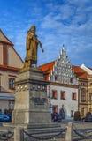 1月Zizka纪念碑,塔博尔,捷克共和国 免版税库存照片