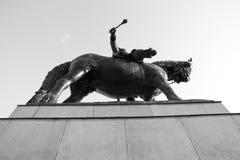 1月Zizka纪念碑 免版税图库摄影