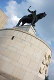 1月Zizka雕象和博物馆在布拉格 免版税图库摄影