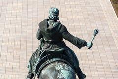 1月Zizka骑马雕象,全国纪念Vitkov,布拉格,捷克 图库摄影
