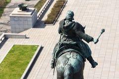 1月Zizka骑马雕象,全国纪念Vitkov,布拉格,捷克 免版税库存图片