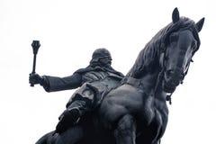 1月Zizka骑马雕象  布拉格,捷克共和国 免版税库存图片
