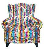 有一个五颜六色的花卉样式的美丽的沙发 图库摄影