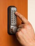 有一个关键字码的门锁 库存照片