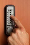 有一个关键字码的门锁 库存图片