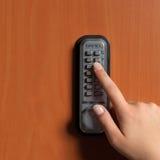 有一个关键字码的门锁 免版税库存照片