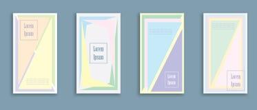 有一个几何样式的盖子 可适用为横幅、海报、海报、传单和横幅 免版税库存图片
