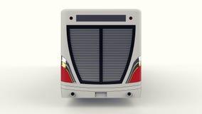 有一个另外的瘦长的零件的一辆大城市公共汽车大客运量的在人的高峰时间或运输时de的 向量例证