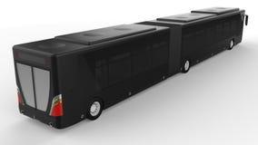 有一个另外的瘦长的零件的一辆大城市公共汽车大客运量的在人的高峰时间或运输时de的 库存例证