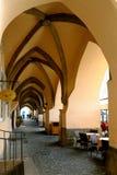 有一个哥特式穹顶的拱道 图库摄影
