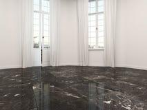 有一个大理石地板的空的室 库存例证