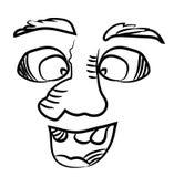 有一个大鼻子的微笑的人 免版税库存图片