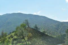 有一个岩石地形和美好的风景的山 图库摄影