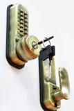有一个数字式代码的锁 免版税库存图片