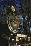 有一个红色星的老机车 免版税图库摄影