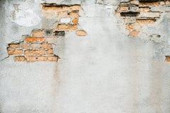 有一个部分的老墙壁没有膏药 免版税库存照片