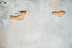 有一个部分的老墙壁没有膏药 图库摄影