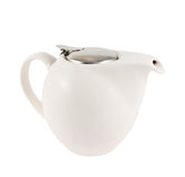 有一个金属盖子盒盖的陶瓷茶壶 库存图片