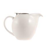 有一个金属盖子盒盖的陶瓷茶壶 免版税库存图片