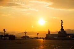 有一全景ofÂ的佛罗伦萨米开朗基罗广场 库存照片