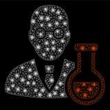 有一刹那斑点的发光的滤网尸体化学家 向量例证