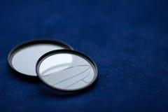 有一块残破的玻璃的透镜过滤器 照相机作用eps10例证透镜彩虹向量 免版税图库摄影