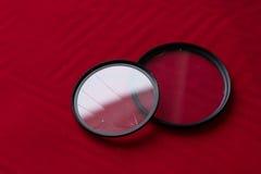 有一块残破的玻璃的透镜过滤器 照相机作用eps10例证透镜彩虹向量 免版税库存照片
