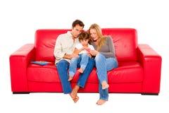 有一子项的家庭 免版税库存图片