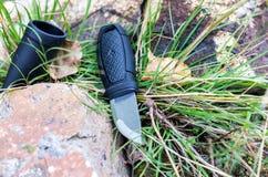 有一把固定的刀片的瑞典刀子 免版税库存图片