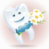 有一束的快乐的牙camomiles 免版税库存照片