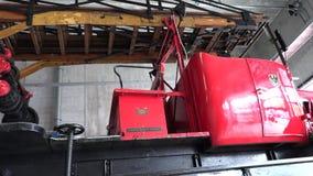 1930有一架木梯子的消防车 股票录像