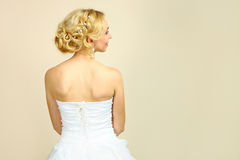 有一种美好的发型的新娘 库存图片