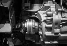 有一辆现代汽车的幅射器的引擎 免版税库存图片