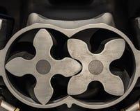有一辆现代汽车的电动子的引擎 图库摄影