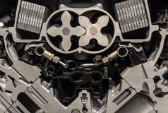 有一辆现代汽车的电动子的引擎 免版税库存照片