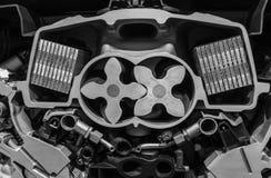 有一辆现代汽车的电动子的引擎 库存图片