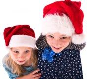 2有一件新年礼物的青少年的女孩 图库摄影