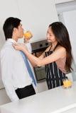 有丈夫的妇女 免版税图库摄影