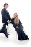 有丈夫的怀孕的时尚妇女 库存图片