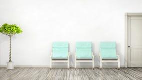 有三把椅子的室 向量例证