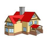 有三角形屋顶的一个房子图片
