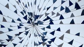 有三角白色和蓝旗信号的诗歌选 影视素材