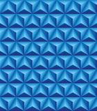 有三面的金字塔蓝色无缝的纹理 免版税库存照片