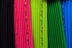颜色非洲样式衣物 免版税图库摄影
