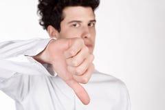 有下来拇指的人 库存照片