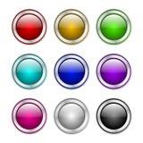 有下载标志的按钮 免版税库存照片