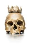 有下颌冠的头骨女王/王后  库存图片