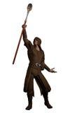 有不可思议的召唤的职员的幻想魔术师 免版税库存图片