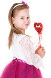 有不可思议的鞭子的女孩 库存照片